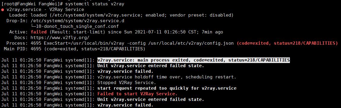 使用Azure搭建V2ray遇到的一些坑以及报错218/CAPABILITIES的解决方案